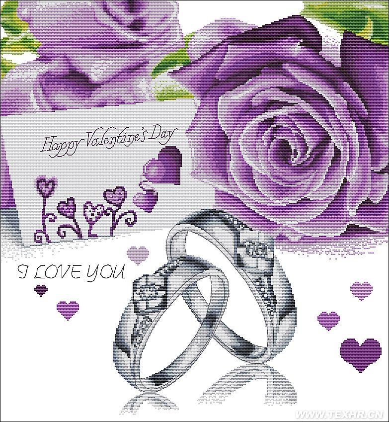 主要取决于市场流行图案,紫色代表高贵,钻石戒指代表永恒,唯爱今生,象征着高贵的恒古不变的爱情。