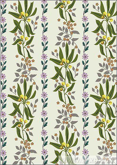 运用电脑绘制,图案主要是绘制叶子与小花进行点缀,呈现清新风格的园舞小调的感觉