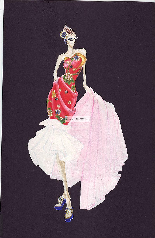 丝绸礼服设计一组